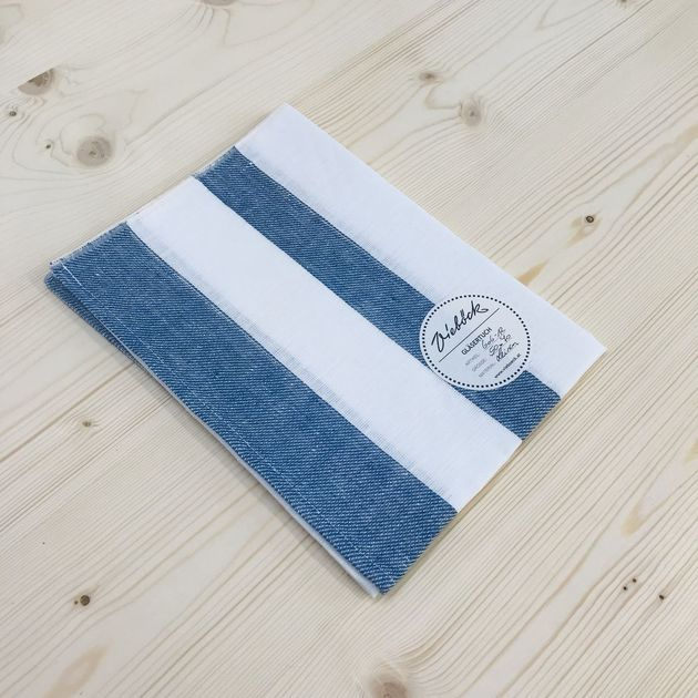606 - Dish towel Traditional-blue