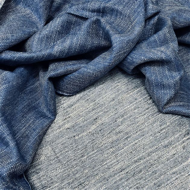 714 - Linen and viscose Flashblue